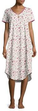 Karen Neuburger Rose Print Nightgown