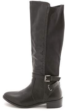 Rampage Women's Ilite Almond Toe Knee High Riding Boots.