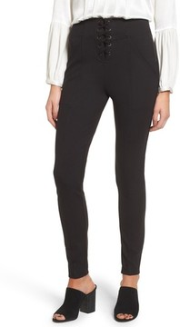 Ella Moss Women's Lace-Up Skinny Pants