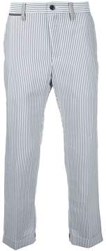 Sacai pinstripe cropped trousers