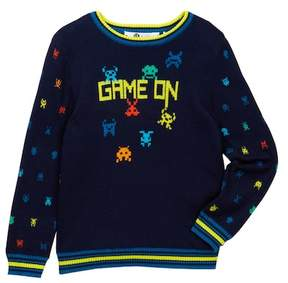Petit Lem Game On Sweater (Toddler & Little Boys)