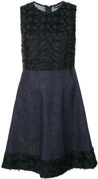 Emporio Armani floral embroidered flared dress