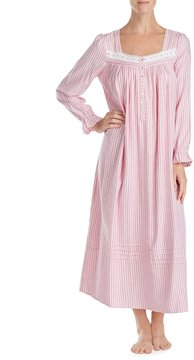 Eileen West Striped Flannel Ballet Nightgown