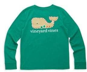 Vineyard Vines Toddler's, Little Girl's& Girl's Gingerbread Whale Graphic Tee