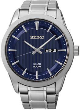 Seiko Men's Solar Stainless Steel Bracelet Watch 43mm SNE361