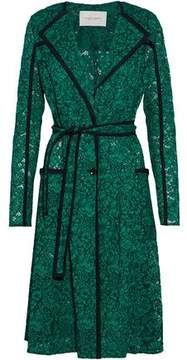 Carolina Herrera Belted Silk-Trimmed Corded Lace Jacket