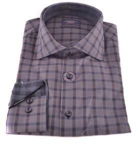 Paul & Shark Men's Purple Cotton Shirt.