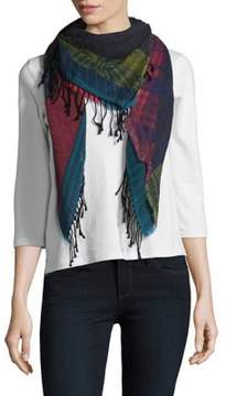 Echo Stripe Patch Square Scarf