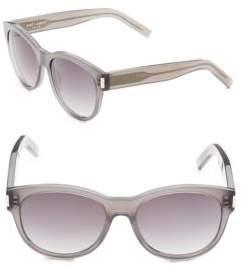 Bottega Veneta Transparent 54mm Wayfarer Sunglasses