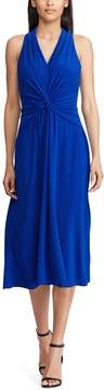 Chaps Petite Knot-Front Halter Dress