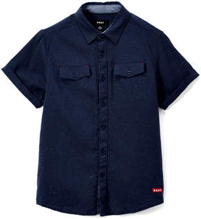 DKNY Insignia Blue Dotted Button-Up - Boys