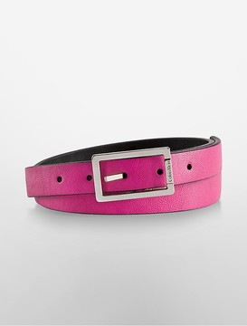 Valerie Square Buckle Leather Belt