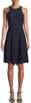 Donna Ricco Women's Sleeveless Fit-&-Flare Dress