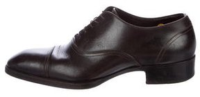 Tom Ford Gianni Cap-Toe Leather Oxfords