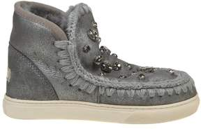 Mou mini Eskimo Sneakers With Crystal Color Gray