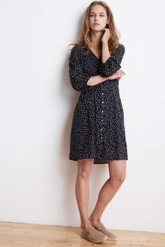 Velvet by Graham & Spencer MIMI PRINTED COTTON VOILE BUTTON UP DRESS