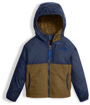 The North Face Sherparazo Taffeta & Fleece Hooded Jacket, Blue, Size 2-4T