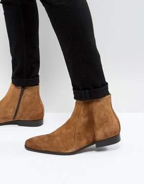 Zign Shoes Suede Zip Boots