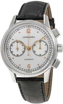 Longines Heritage Chronograph Automatic Silver Dial Men's Watch