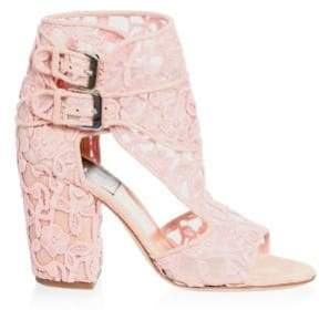 Laurence Dacade Buckled Floral Lace Sandals