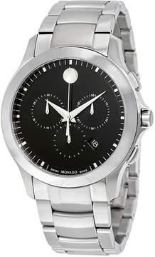 Movado Masino Black Dial Chronograph Men's Watch