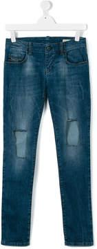 Diesel teen distressed denim jeans