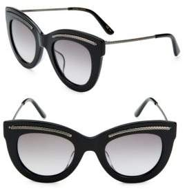 Saint Laurent 49MM Etched Cat-Eye Sunglasses