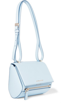 Givenchy Pandora Box Mini Textured-leather Shoulder Bag - Light blue