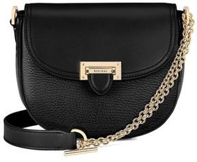 Aspinal of London Portobello Bag With Chain In Black Pebble
