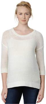 Design History Maternity Three-Quarter-Sleeve Sweater