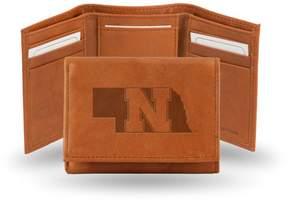 Rico NCAA Embossed Leather Trifold Wallet - Nebraska