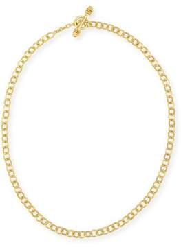 Elizabeth Locke Tiny Sicilian 19K Gold Link Necklace, 18