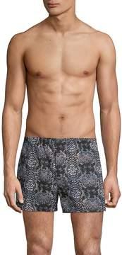 Marc by Marc Jacobs Men's Rex Snakeskin-Print Cotton Boxer Shorts
