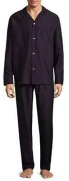 Hanro Select Long Sleeve Cotton Pajamas