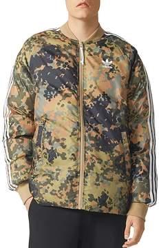 adidas Camouflage Reversible Puffer Bomber Jacket