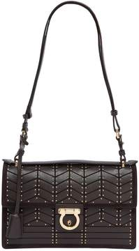 Aleen Studs Leather Shoulder Bag