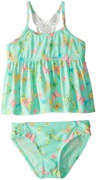 Hula Star Girls' Dreamy Butterfly Tankini Set (2T6X) - 8154258