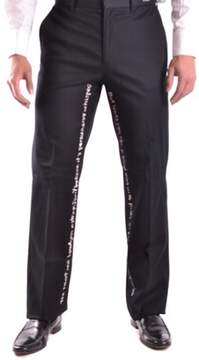 Richmond Men's Black Cotton Pants.
