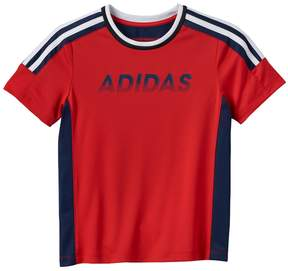 adidas Boys 4-7x Gradient Logo Performance Tee