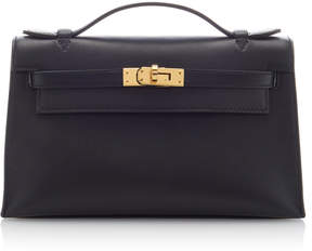 Hermes Vintage by Heritage Auctions Black Swift Leather Kelly Pochette