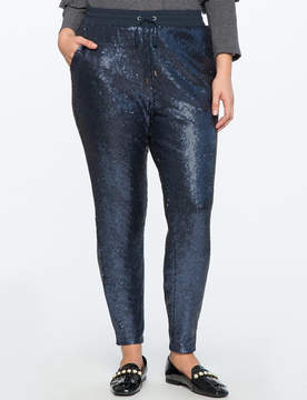 ELOQUII Sequin Pull On Pant
