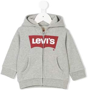 Levi's Kids logo print hooded jacket
