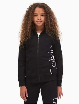 Calvin Klein Jeans Girls Logo Zip Hoodie