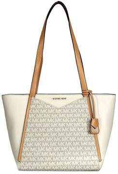 Michael Kors Whitney Small Leather Tote- Natural/Butternut - ONE COLOR - STYLE