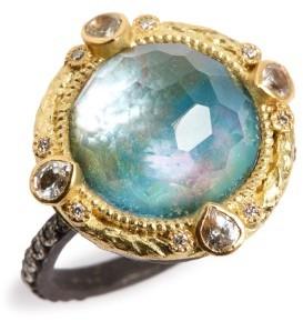 Armenta Women's Old World Opal & Diamond Ring