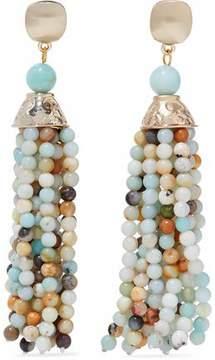 Kenneth Jay Lane Gold-Tone Bead Clip Earrings