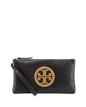 Tory Burch Charlie Logo Wristlet Clutch Bag - BLACK - STYLE