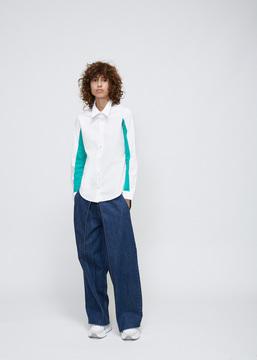 Aalto White Standing Collar Shirt