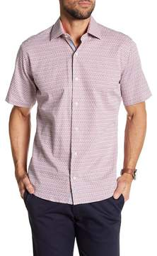 Tailorbyrd Short Sleeve Print Trim Fit Woven Shirt