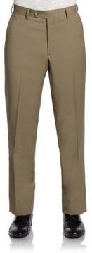 Saks Fifth Avenue BLACK Classic-Fit Wool Gabardine Pants